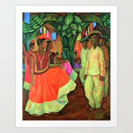 Dance in Tehuantepec by Diego Rivera Art Print