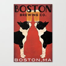 Boston Terrier Brewing Company Canvas Print
