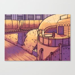 Sunset Train Canvas Print