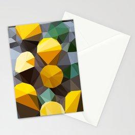 lemonade abstract geometrical art Stationery Cards