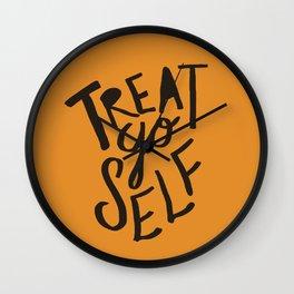 Halloween Treat Yo Self Wall Clock