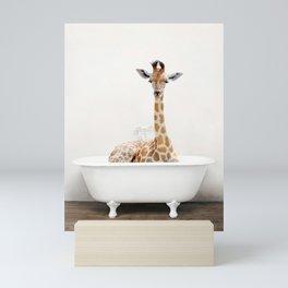 Skeptic Giraffe in the Bath (c) Mini Art Print
