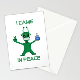 I Came In Peace - Alien Stationery Cards