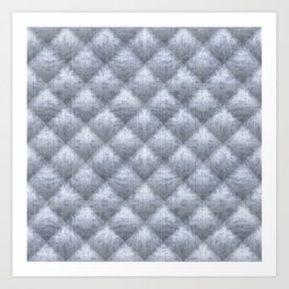 Quilted Soft Blue Velvety Pattern Art Print