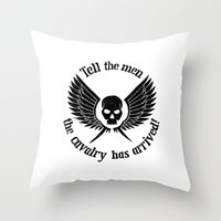 warhammer Throw Pillows featuring Imperial Guard black, Warhammer 40K by ZsaMo Design