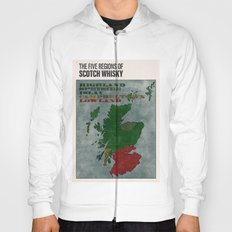 The Five Regions of Scotch Whisky (woodpress) Hoody