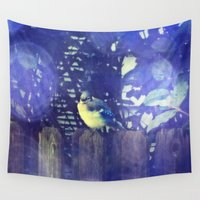 jay z Wall Tapestries featuring Blue Jay by Yoshigirl