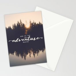 And So the Adventure Begins II Stationery Cards