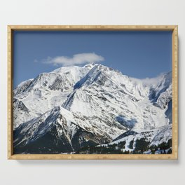 Mt. Blanc with clouds Serving Tray