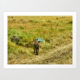 Warthog Rebels Art Print