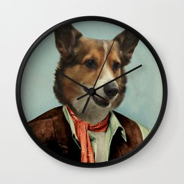 Corgi Art - Sheriff Orpheus Wall Clock