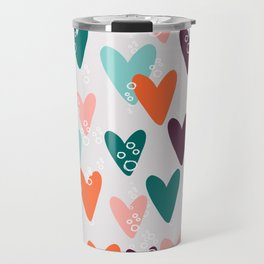 Colored hearts seamless pattern Travel Mug