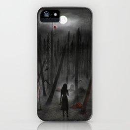 Women in Horror Films Forest iPhone Case