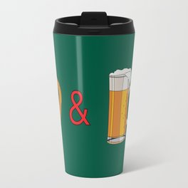 Bretzels (Pretzels) and Beer Travel Mug
