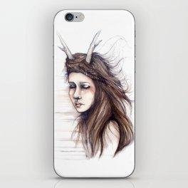 Windblown // Fashion Illustration iPhone Skin
