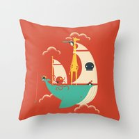voyage Throw Pillows featuring Voyage by Jay Fleck