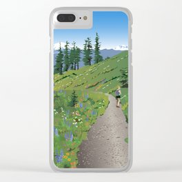 Silver Star Mountain Clear iPhone Case
