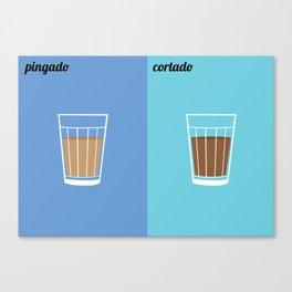Pingado x Cortado Canvas Print