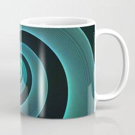 Mint Swirl Blue & Black Spiral Modern Pattern Design Coffee Mug