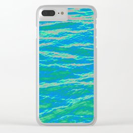 Psychedelic Ocean Water - Blues and Greens Clear iPhone Case