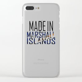 Made In Marshall Islands Clear iPhone Case