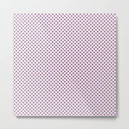 Mulberry Polka Dots Metal Print