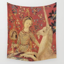 Lady and Unicorn Medieval Tapestry Wall Tapestry