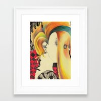 bible Framed Art Prints featuring Neon Bible by Kero