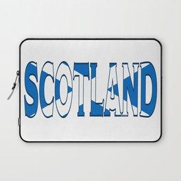 Scotland Font with Scottish Flag Laptop Sleeve