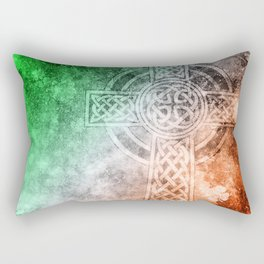 Irish Celtic Cross Rectangular Pillow