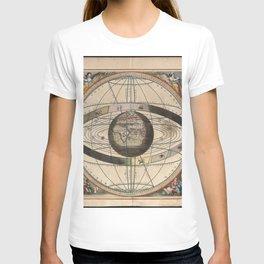 Keller's Harmonia Macrocosmica - Scenography of Ptolemaic Cosmography 1661 T-shirt