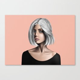 Silver Hair Canvas Print