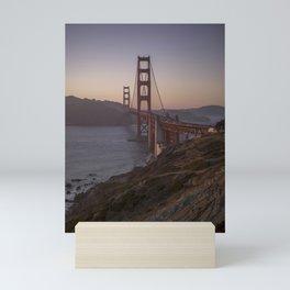 Golden Gate Bridge at Sunset Mini Art Print