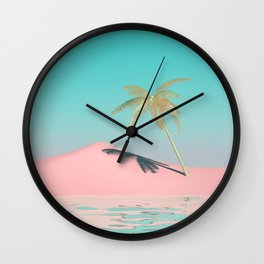 Palm Tree Oasis Wall Clock