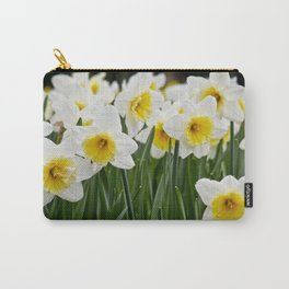 Close-up of a Field of White and Yellow Daffodils in Amsterdam, Netherlands Carry-All Pouch
