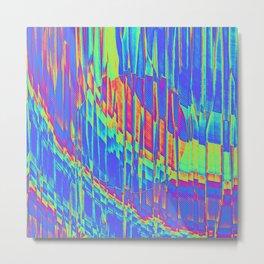Iridescent Cosmic Rays Pop Art Metal Print