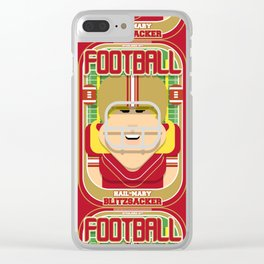 American Football Red and Gold - Hail-Mary Blitzsacker - Hazel version Clear iPhone Case