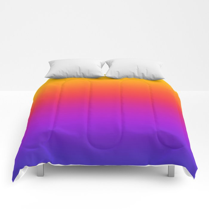 Colorful Gradient Pattern Neon Abstract Rainbow Comforters