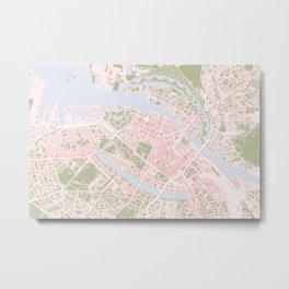 Copenhagen map vintage Metal Print