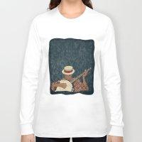 banjo Long Sleeve T-shirts featuring Banjo by Aquamarine Studio