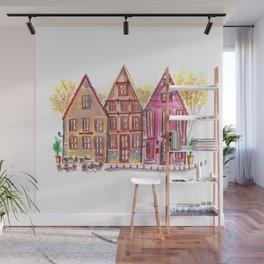 Coloured houses II Wall Mural
