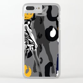 run dmc & Royalty Clear iPhone Case