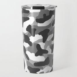 Grey Gray Camo Camouflage Travel Mug