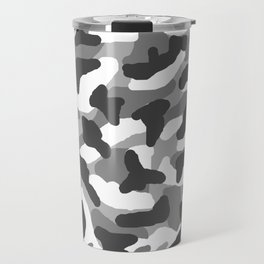 Grey Gray Camo Camouflage Travel Mug