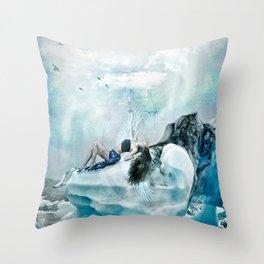 Cold As ice berg Throw Pillow