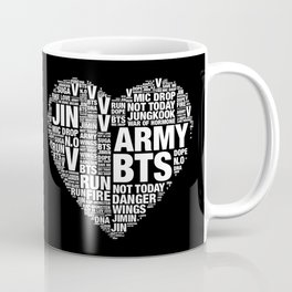 BTS ARMY Fan Art : Typography Coffee Mug