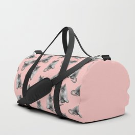 Cute Girly Pink Cats Animal Pattern Illustrations Duffle Bag