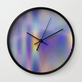 blue rhombus Wall Clock