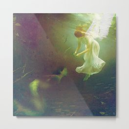 The angel and the mermaid Metal Print