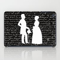pride and prejudice iPad Cases featuring Pride and Prejudice design by Evie Seo